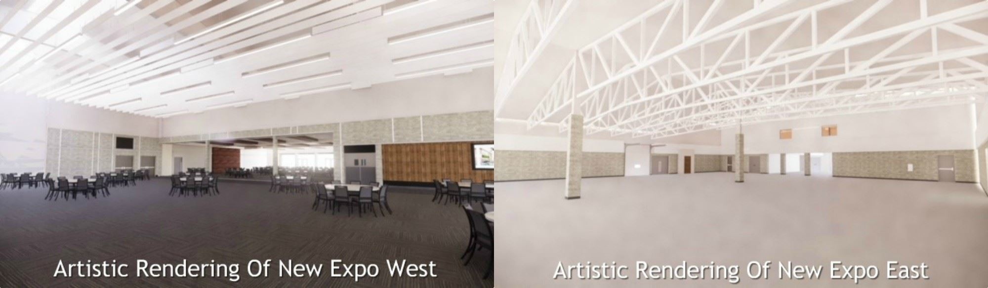 Artistic Rendering Of Renovated Expo West and Expo East