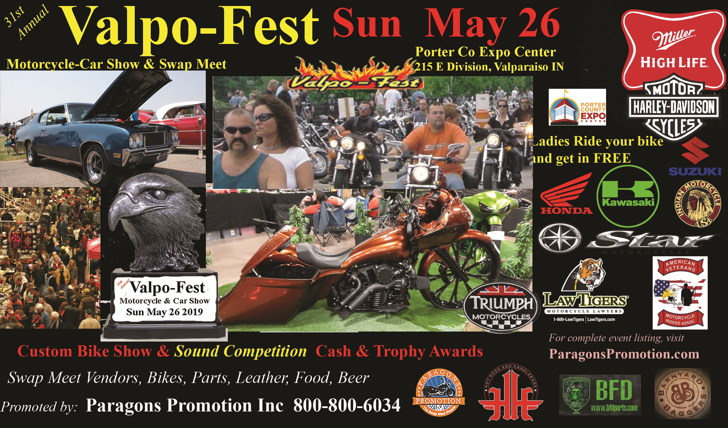 May 2019 Valpo Fest Car & Motorcycle Show Poster