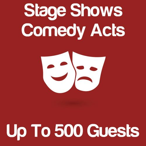 Stage Shows And Comedy Acts Up To 500 Guests Icon