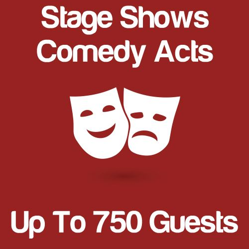 Stage Shows And Comedy Acts Up To 750 Guests Icon