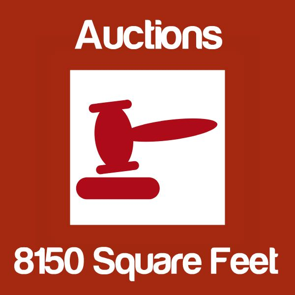 Auctions Up To 8150 Square Feet Icon